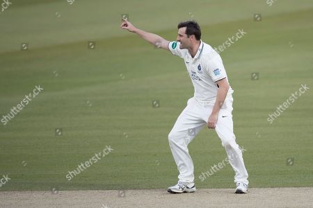 Tim Murtagh of Middlesex CCC appeals for LBW during Middlesex CCC vs Lancashire CCC, Specsavers County Championship Division 2 Cricket at Lord's Cricket Ground on 13th April 2019
