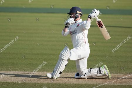 Alex Davies of Lancashire CCC attempts a slog sweep off Tim Murtagh and presents a skier to John Simpson of Middlesex CCC during Middlesex CCC vs Lancashire CCC, Specsavers County Championship Division 2 Cricket at Lord's Cricket Ground on 13th April 2019
