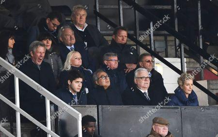 Everton Director's Box including Bill Kenwright and Farhad Moshiri