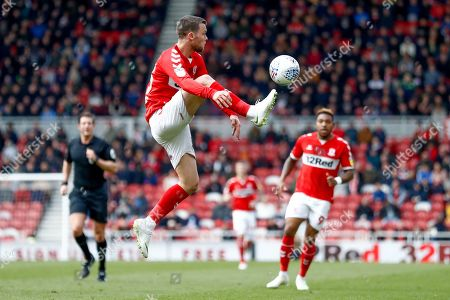 Middlesbrough midfielder Jonathan Howson (16)  during the EFL Sky Bet Championship match between Middlesbrough and Hull City at the Riverside Stadium, Middlesbrough