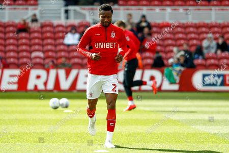 Middlesbrough midfielder Mikel John Obi (2) warming up  during the EFL Sky Bet Championship match between Middlesbrough and Hull City at the Riverside Stadium, Middlesbrough