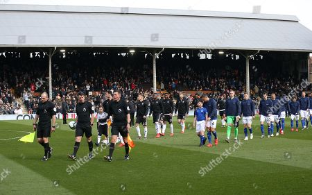 Editorial picture of Fulham v Everton, Premier League, Football, Craven Cottage, London, UK - 13 Apr 2019