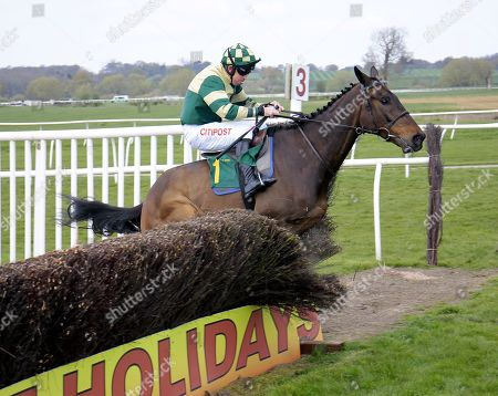Barton Knoll and Leighton Aspell show no respect for the fences finishing 2nd at Bangor-on-Dee.