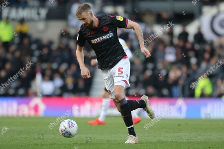 Bolton Wanderers defender Andrew Taylor during the EFL Sky Bet Championship match between Derby County and Bolton Wanderers at the Pride Park, Derby