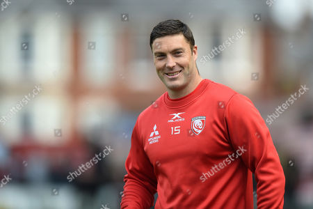 Matt Banahan of Gloucester Rugby looks on during the pre-match warm-up