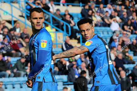 Graham Burke and Elliott List of Gillingham during Gillingham vs Shrewsbury Town, Sky Bet EFL League 1 Football at The Medway Priestfield Stadium on 13th April 2019
