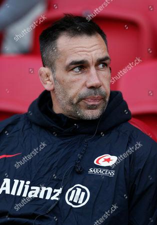 Stock Photo of Alex Sanderson the Saracens coach