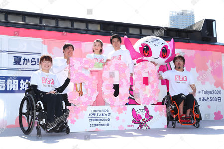 Editorial image of 500 Days to Go until the Tokyo Paralympic Games event, Toyosu - 13 Apr 2019