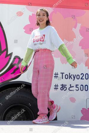 Japanese actress Riisa Naka attends a talk show
