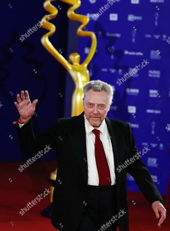 Christopher Walken waves as he arrives for the opening ceremony red carpet event of the 9th Beijing International Film Festival, in Beijing, China, 13 April 2019. The film festival runs from 13 to 20 April.