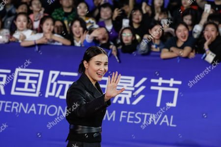 Song Jia arrives for the opening ceremony red carpet event of the 9th Beijing International Film Festival, in Beijing, China, 13 April 2019. The film festival runs from 13 to 20 April.