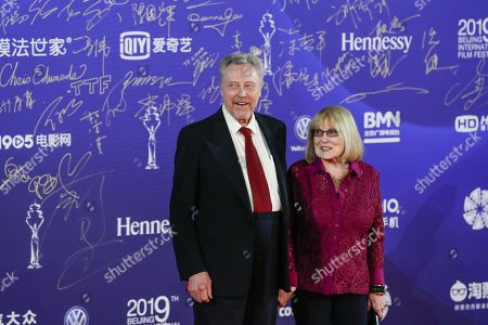 Christopher Walken with his wife Georgianne arrive for the opening ceremony red carpet event of the 9th Beijing International Film Festival, in Beijing, China, 13 April 2019. The film festival runs from 13 to 20 April.