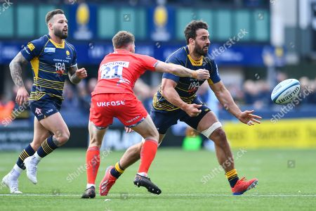 Marco Mama of Worcester Warriors in action