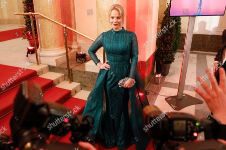 Latvian mezzo-soprano Elina Garanca arrives for the Romy Gala television award ceremony at the Hofburg palace in Vienna, 13 April 2019.