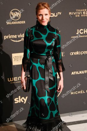 Franziska Weisz arrives for the Romy Gala television award ceremony at the Hofburg palace in Vienna, 13 April 2019.