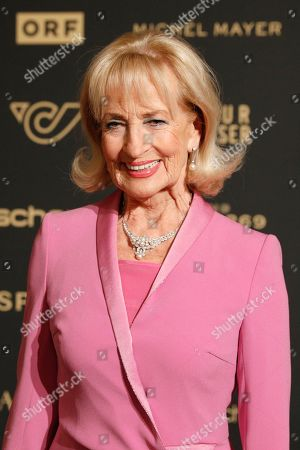 Stock Picture of Dagmar Koller arrives for the Romy Gala television award ceremony at the Hofburg palace in Vienna, 13 April 2019.