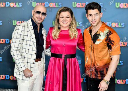 Pitbull, Kelly Clarkson and Nick Jonas