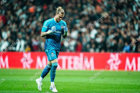 Loris Karius of Besiktas during Besiktas J.K v Ä°stanbul Basaksehir, Turkish Super Lig, in Vodafone Park , Istanbul, Turkey