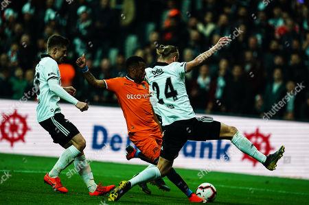 Robinho of Istanbul shots on goal during Besiktas J.K v Ä°stanbul Basaksehir, Turkish Super Lig, in Vodafone Park , Istanbul, Turkey