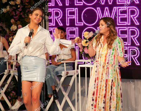 Drew Barrymore and Ksenija Lukich are seen at the Westfield Parramatta in Sydney to celebrate the launch of her cosmetic line Flower Beauty