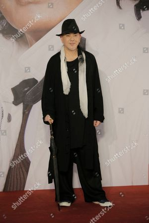 Hong Kong actor Anthony Wong poses on the red carpet of the Hong Kong Film Awards in Hong Kong