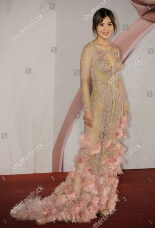Hong Kong actress-singer Charlene Choi poses on the red carpet of the Hong Kong Film Awards in Hong Kong