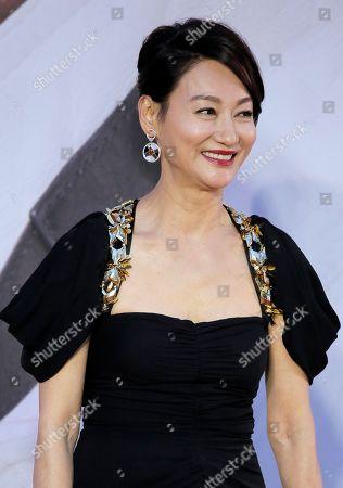 Hong Kong actress Kara Wai poses on the red carpet of the Hong Kong Film Awards in Hong Kong