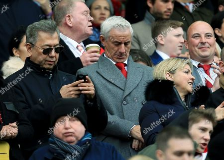 Former Liverpool player Ian Rush in the stand ahead of the game
