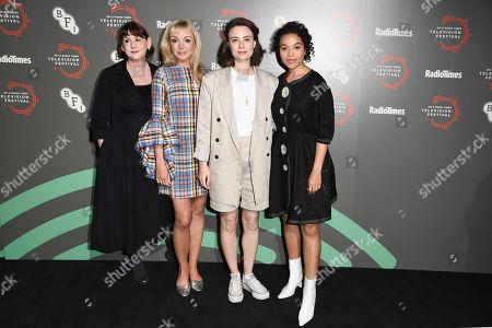Heidi Thomas, Helen George, Jennifer Kirby and Leonie Elliott