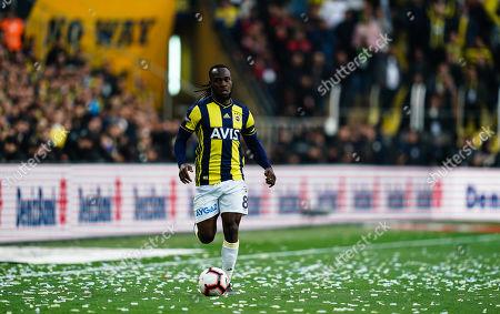 Victor Moses of Fenerbache during the Turkish Super Lig match between Fenerbache and Galatasaray at the Åžükrü SaracoÄŸlu Stadium in Istanbul , Turkey