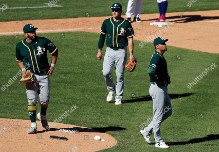 Editorial picture of Athletics Rangers Baseball, Arlington, USA - 14 Apr 2019