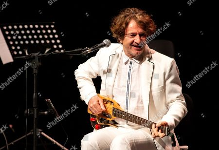 Stock Photo of Goran Bregovic in concert at Teatro degli Arcimboldi