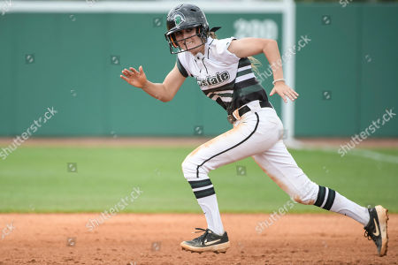 South Carolina Upstate shortstop Sarah Price runs to second base during an NCAA softball game on in Spartanburg, S.C