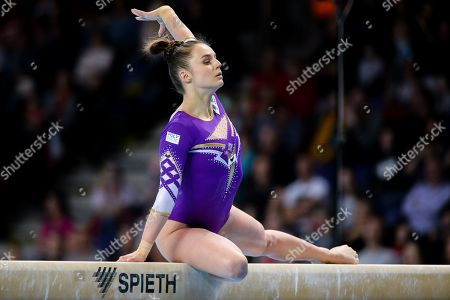 Pauline Schaefer from Germany seen in action during the Apparatus Finals