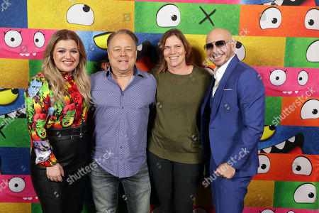 Kelly Clarkson, Director Kelly Asbury, Producer Jane Hartwell and Pitbull