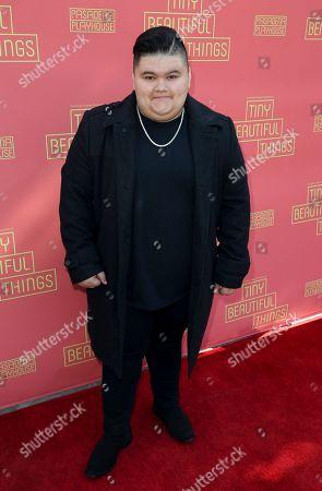 """Jovan Armand arrives at the opening night of """"Tiny Beautiful Things"""" at the Playhouse Pasadena, in Pasadena, Calif"""