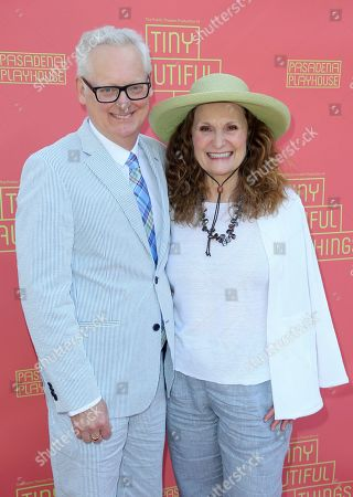 """Michael Chieffo, Beth Grant. Michael Chieffo, left, and Beth Grant arrive at the opening night of """"Tiny Beautiful Things"""" at the Playhouse Pasadena, in Pasadena, Calif"""