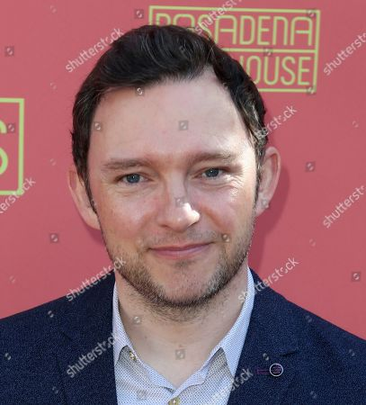 """Stock Image of Nate Corddry arrives at the opening night of """"Tiny Beautiful Things"""" at the Playhouse Pasadena, in Pasadena, Calif"""