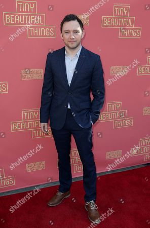 """Stock Picture of Nate Corddry arrives at the opening night of """"Tiny Beautiful Things"""" at the Playhouse Pasadena, in Pasadena, Calif"""