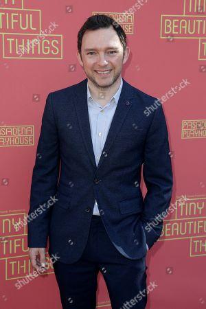 "Nate Corddry arrives at the opening night of ""Tiny Beautiful Things"" at the Playhouse Pasadena, in Pasadena, Calif"