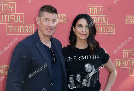"""Todd Felix, Beth Dover. Todd Felix, left, and Beth Dover arrives at the opening night of """"Tiny Beautiful Things"""" at the Playhouse Pasadena, in Pasadena, Calif"""