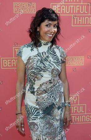 "Laura Ceron arrives at the opening night of ""Tiny Beautiful Things"" at the Playhouse Pasadena, in Pasadena, Calif"