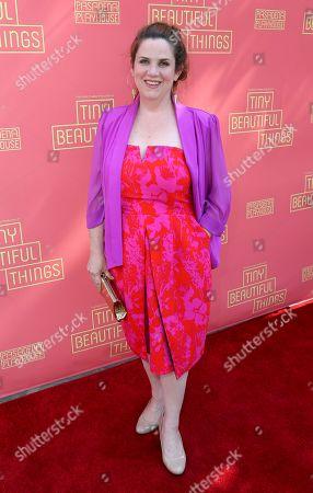 "Donna Lynne Champlin arrives at the opening night of ""Tiny Beautiful Things"" at the Playhouse Pasadena, in Pasadena, Calif"