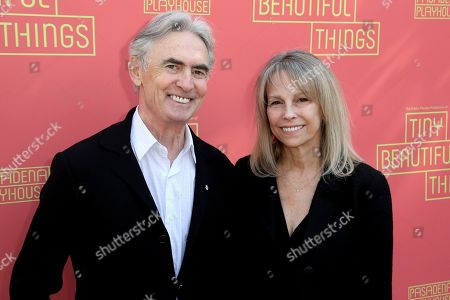 "David Steinberg, Robyn Todd. David Steinberg, left, and Robyn Todd arrive at the opening night of ""Tiny Beautiful Things"" at the Playhouse Pasadena, in Pasadena, Calif"