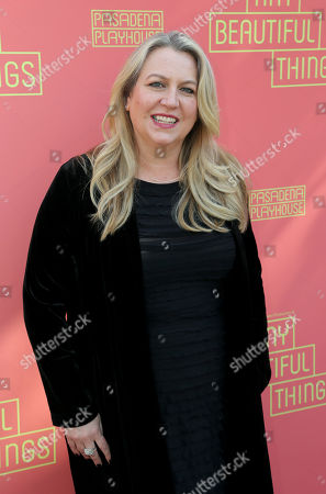 """Cheryl Strayed arrives at the opening night of """"Tiny Beautiful Things"""" at the Playhouse Pasadena, in Pasadena, Calif"""