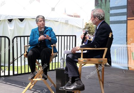 Stock Picture of Janet Napolitano and Scott Kraft