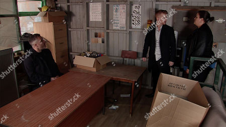 Ep 9751 Monday 22nd April 2019 - 2nd Ep A battered and bruised Gary Windass, as played by Mikey North, has to pay his debt to Rick, as played by Greg Wood.