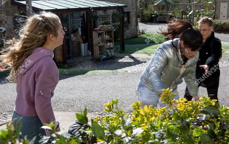Ep 8453 Monday 22nd April 2019 An angry Amelia Spencer, as played by Daisy Campbell, continues to rage after Kerry Wyatt, as played by Laura Norton, and Daz Spencer's break up.
