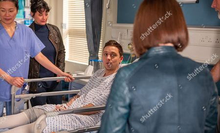 Ep 8450 Thursday 18th April 2019 - 1st Ep Matty Barton, as played by Ash Palmisciano, struggles to hide his nerves as he waits to have his operation. After he's gone in, Moira Barton, as played by Natalie J Robb, lashes out at Victoria Barton, as played by Isobel Hodgins. Upset, she confesses her distress for Matty stems from Holly's death and Victoria comforts her. As they wait, Moira fears the worst when she sees a nurse running towards Matty's operating theatre.