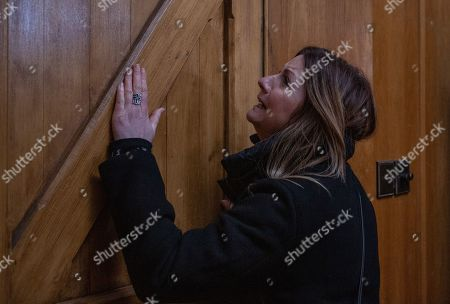 Ep 8448 Tuesday 16th April 2019 - 2nd Ep Harriet Finch, as played by Katherine Dow Blyton, is out in the village she hears the church bells ringing she goes in to investigate but the heavy door slams behind her.. she is locked in and frightened to death. What will happen next and who has locked her in?